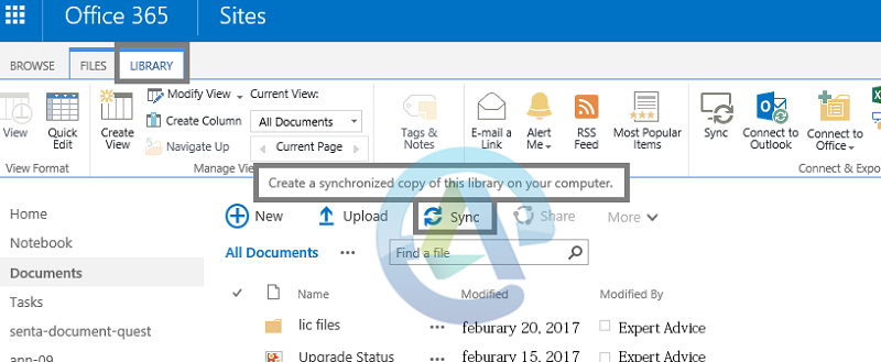 Sync a site library to a computer folder