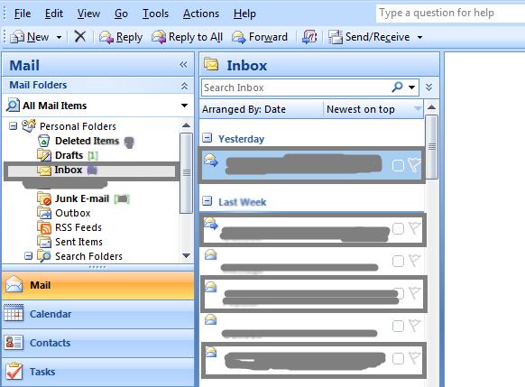 bulk email delete in outlook